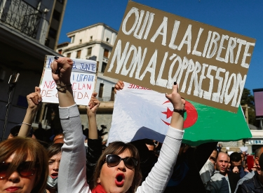 Protest in Algerien